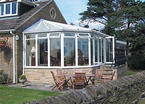 Easy Install Hipped Lean to Self Build Conservatory