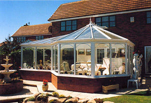A stunning example of a P-Shaped Conservatory design